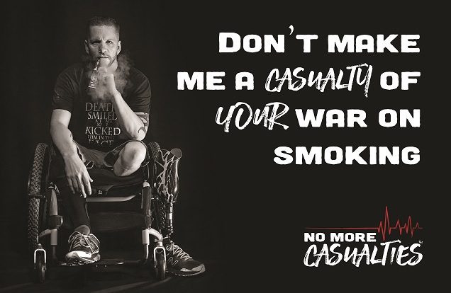 No More Casualties Vaping Campaign