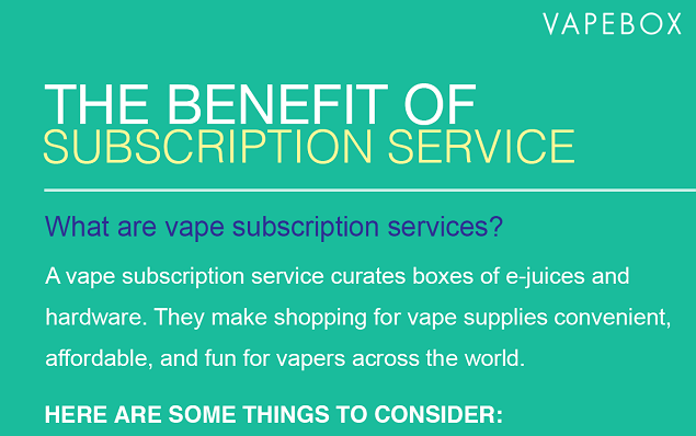 vape subscription service infographic