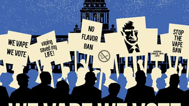 Flavor ban protest vapers